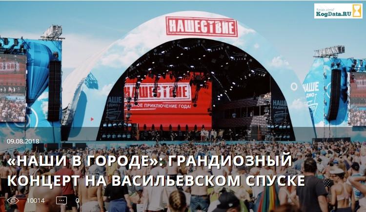 20 лет нашему радио концерт на Васильевском спуске!