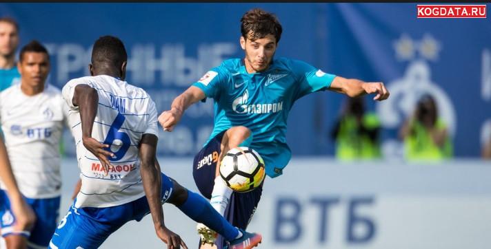 Динамо Зенит 21 октября 2018 Матч Премьер онлайн трансляция