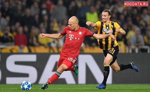 Бавария АЕК 07.11.2018 смотреть онлайн футбол