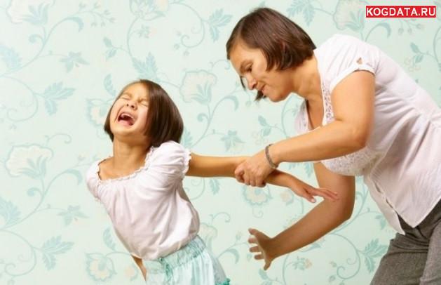 Шлепки вредят воспитанию детей, делают их агрессивными
