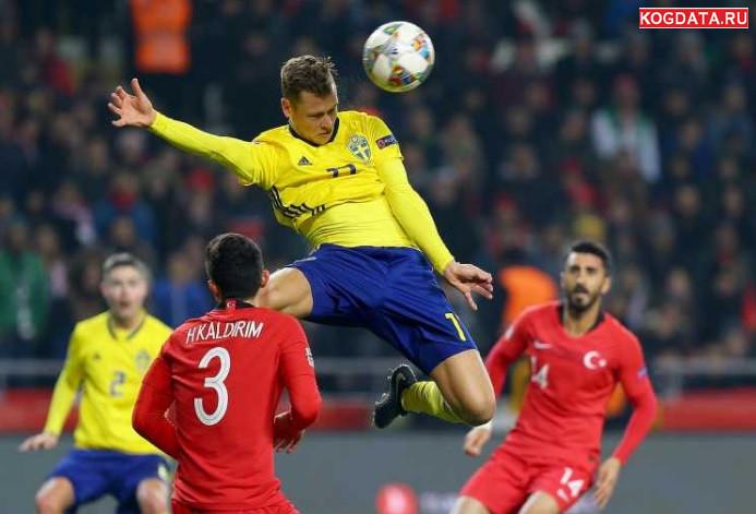 Лига наций УЕФА — футбол Швеция Россия 20 ноября 2018