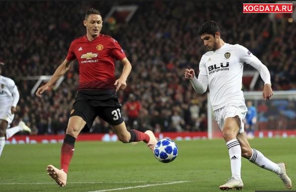 Лига чемпионов футбол Валенсия Манчестер Юнайтед 12 декабря 2018 прогноз, статистика