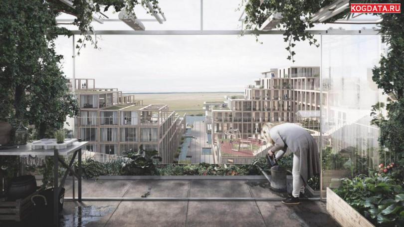 В Копенгагене построят эко-деревню из переработанного бетона, дерева и стекла