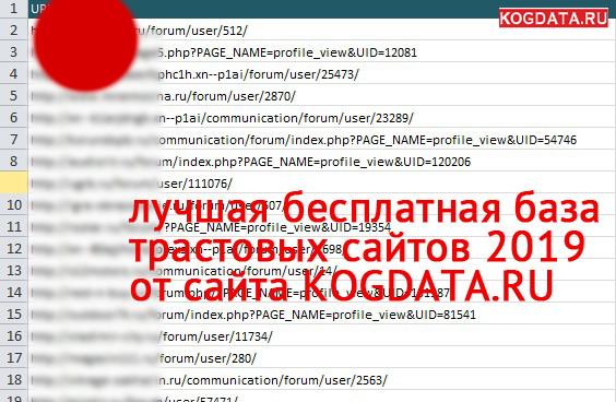 База трастовых сайтов (2019) для прогона по профилям бесплатно